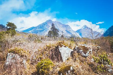 beautiful annapurna mountain range himalayan range