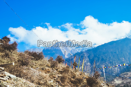 mountain landscape with grassy hills and
