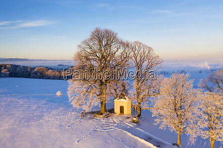 germany bavaria degerndorf winter landscape with