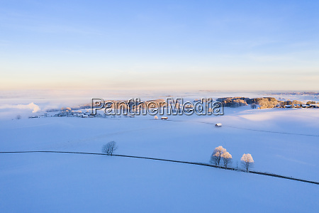 germany bavaria attenkam winter landscape at