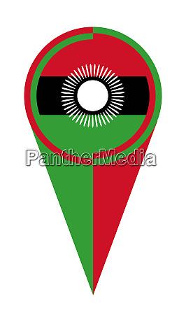 malawi karte zeiger lage flagge
