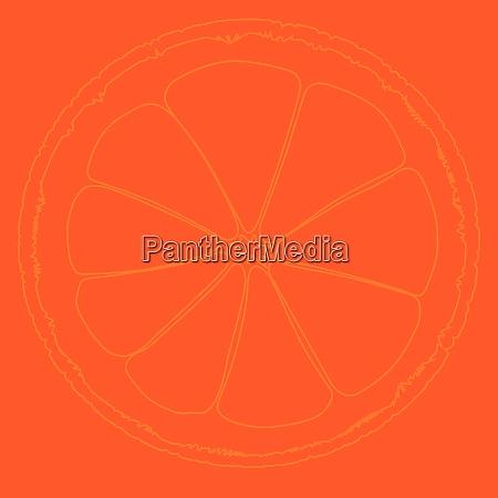 blood orange background drawing