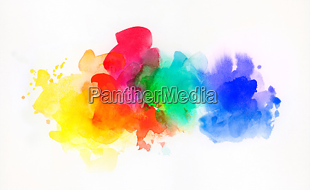 rainbow colored watercolor paints and textures