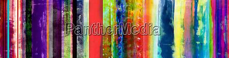 bunte mixed media streifen banner mit