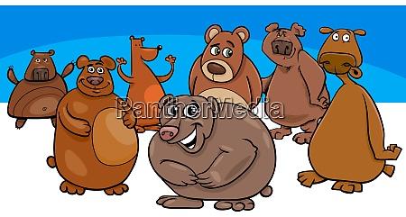traegt cartoon tier figuren gruppe