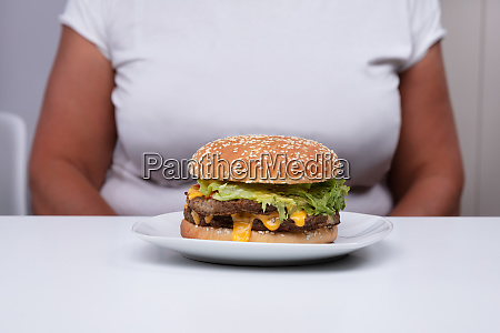 hamburger on table in front of