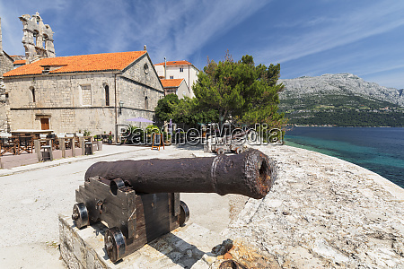 old cannons old town of korcula
