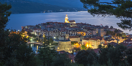 view over the old town at