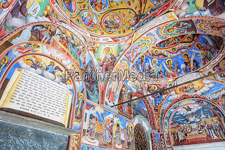 frescoes at church of the nativity