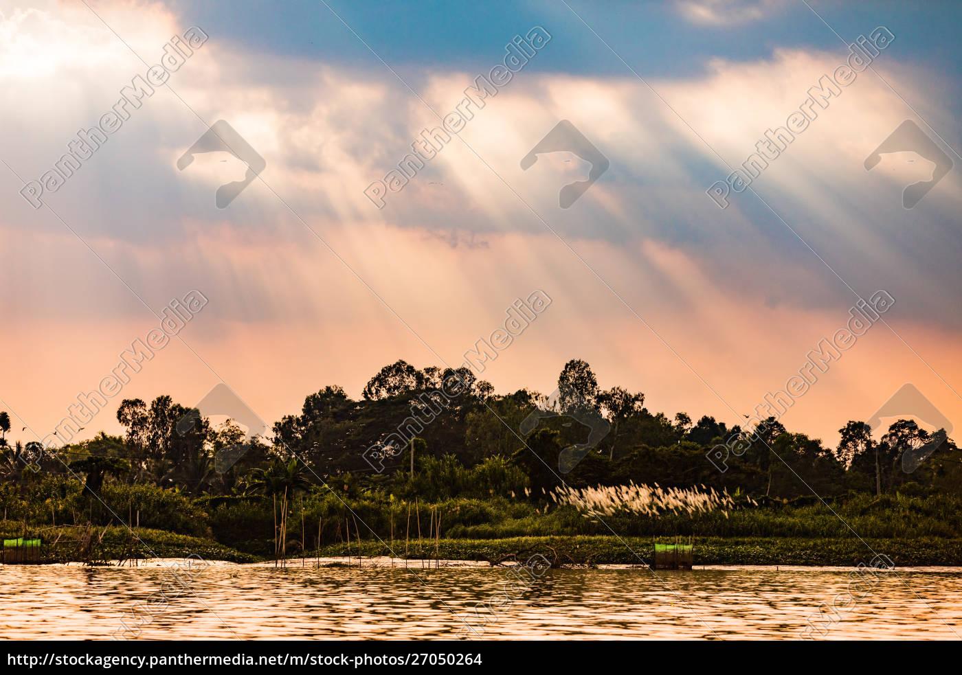 dorfleben, im, mekong-delta, vietnam, indochina, südostasien, asien - 27050264