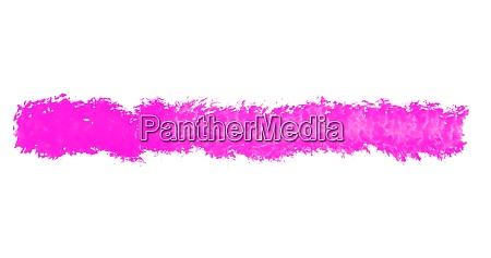 isolierter rosa pinselstrich auf weissem hintergrund