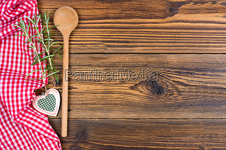 an old wooden spoon decorative heart