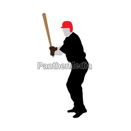 baseball silhouette