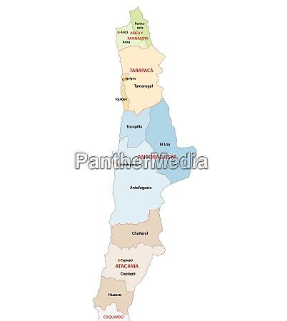 verwaltungs und politische landkarte der noerdlichen