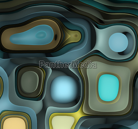 abstract futuristic geometric background with curved