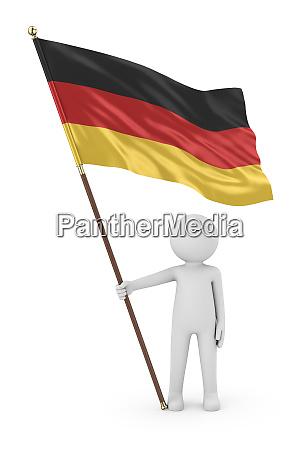 deutsche patriot holding flagge von deutschland