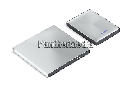 tragbare optische festplatte und festplatte