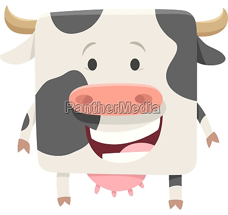 happy black and white cow farm