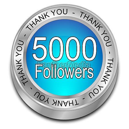 glossy blue 5000 followers thank you