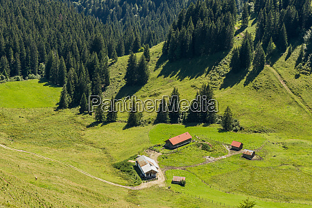 huts agriculture isarwinkel lenggries hike bavaria