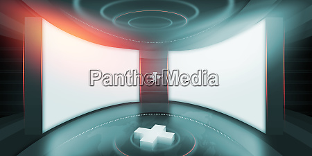 abstract empty 3d studio space concept