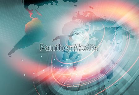 globale konnektivitaet und wachsender geschaeftshintergrund durch