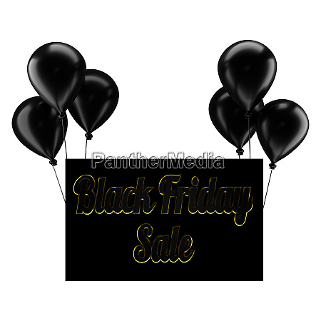 black balloons with black friday sale