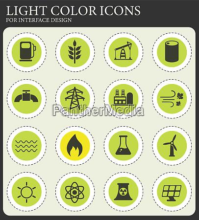 energieerzeugungssymbolsatz