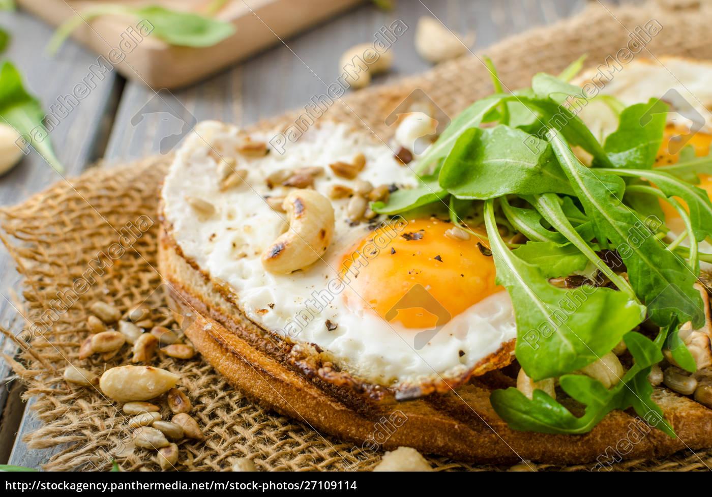 dorfbrot, gebratene, eier - 27109114
