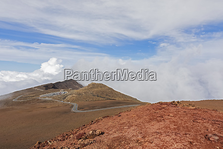 view from red hill to haleakala