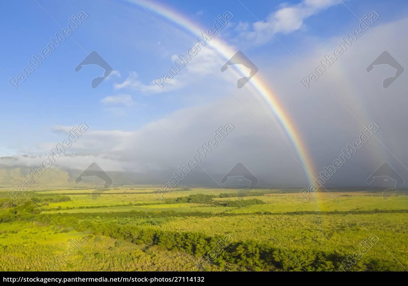 luftaufnahme, über, west, maui, mountains, mit - 27114132