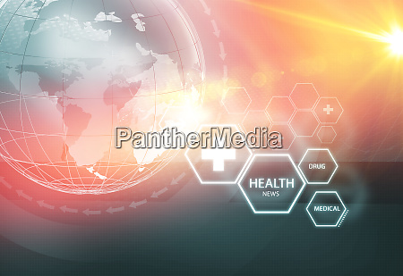 global health news hintergrundkonzept serie