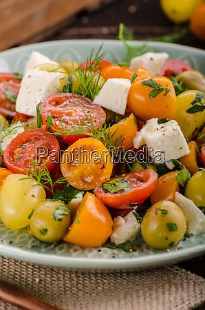 fresh tomato olives salad feta cheese