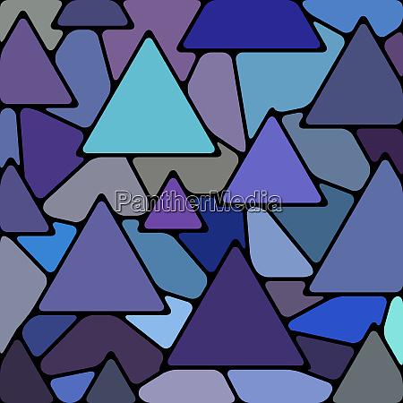 abstrakter vektor buntglas mosaik hintergrund