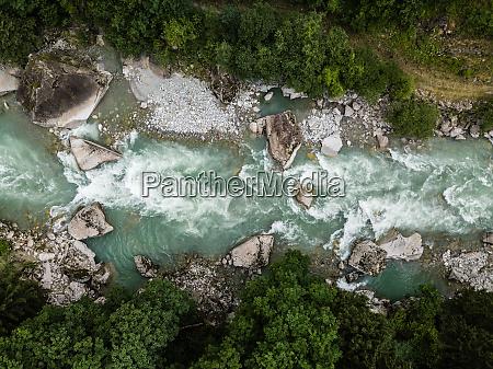 aerial top view of a splendid