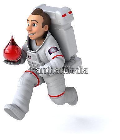 astronautenkonzept 3d illustration