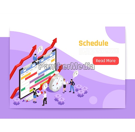 time management landing page with alarm