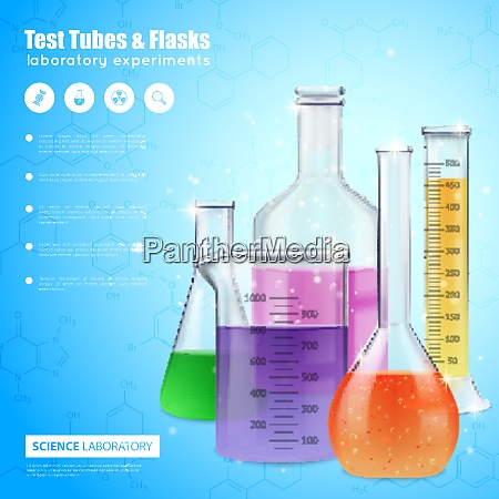 science laboratory design concept with test