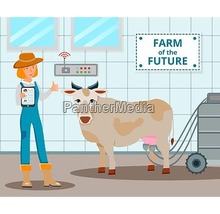 dairy farm of future design concept