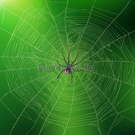 brightly lit green realistic background with
