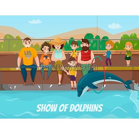 delfinarium und familienbesuch mit show von