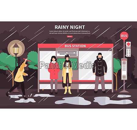bad weather transportation web page poster