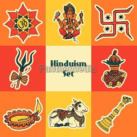 indien reisen traditionelle kultur hinduismus symbole