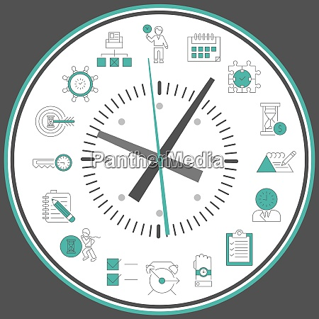 time management concept with successful business