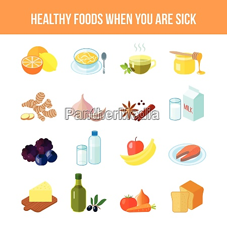 healthy food for sick people flat