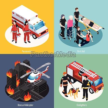 rescue team 2x2 design concept set