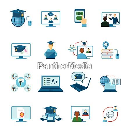 online bildung lernen und training symbol