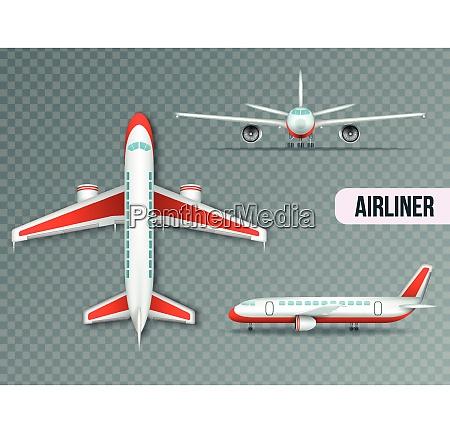 wide body large civil jet airliner