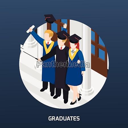 university graduates with diploma in academic