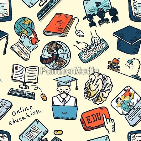 farbige online bildungsabschluss und e learning